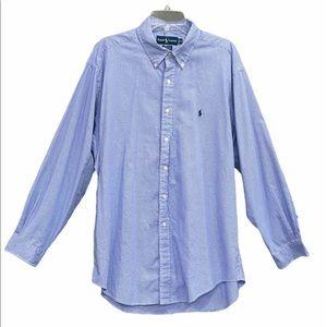 Ralph Lauren Long Sleeve Shirt Size 17 34/35